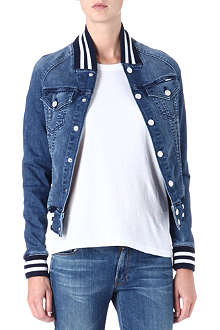 MOTHER Letterman bully denim jacket