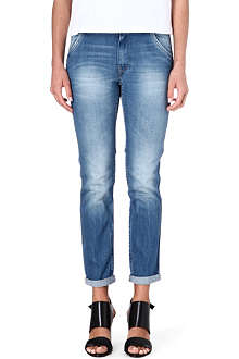 LEE Logger tapered straight-leg mid-rise jeans