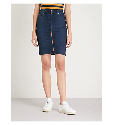BODY OPTIX BY LEE JEANS Body Optix stretch-denim skirt (Rose+lazer