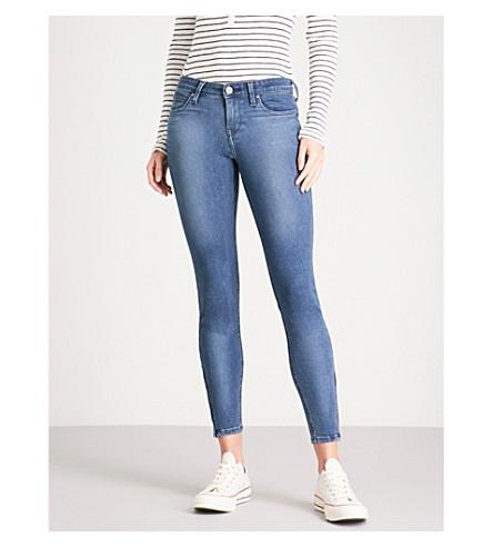 BODY OPTIX BY LEE JEANS Body Optix Scarlett skinny mid-rise jeans (Dark+night+damage