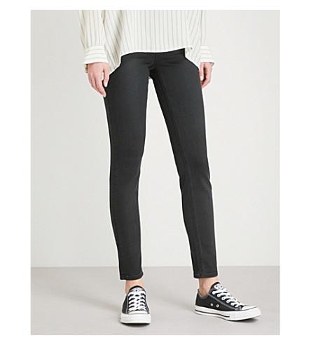 BODY OPTIX BY LEE JEANS Body Optix Scarlett skinny mid-rise jeans (Black+out