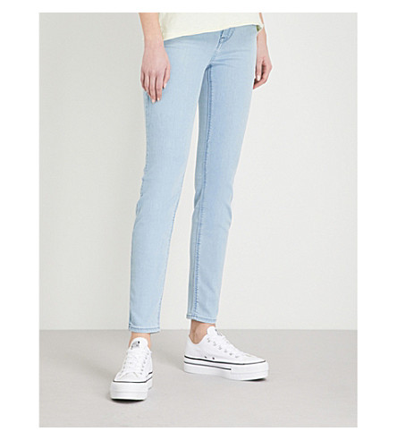 BODY OPTIX BY LEE JEANS Body Optix Scarlett skinny mid-rise jeans (Light+shade