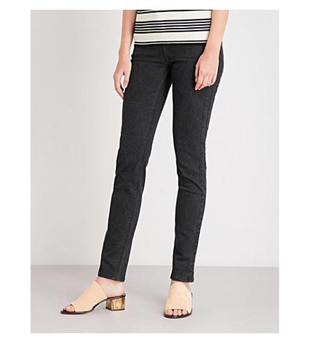 BODY OPTIX BY LEE JEANS Body Optix Scarlett skinny high-rise jeans (Rose+lazer