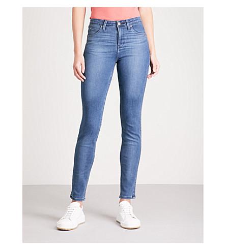 BODY OPTIX BY LEE JEANS Body Optix Scarlett skinny high-rise jeans (Dark+night+damage