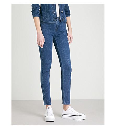 BODY OPTIX BY LEE JEANS Body Optix Scarlett skinny high-rise jeans (Dark+shade