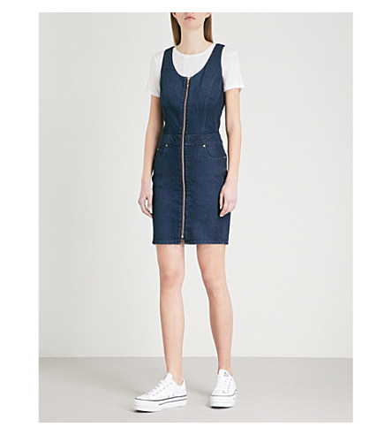 BODY OPTIX BY LEE JEANS Body Optix zipped stretch-denim dress (After+night