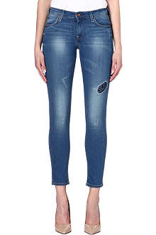 LEE Scarlett patchwork skinny mid-rise jeans