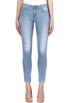 LEE Scarlett distressed skinny mid-rise jeans