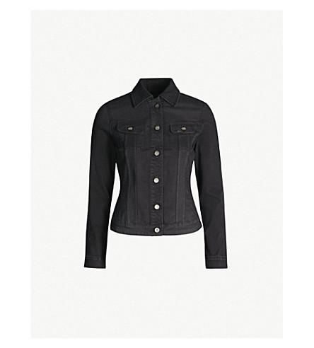 LEE Body Optix slim rider stretch-denim jacket (Black+out