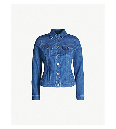 LEE Body Optix Slim Rider stretch-denim jacket (Bright mid