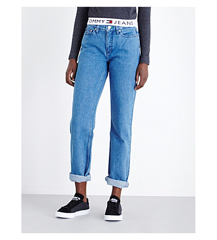 TOMMY JEANS High-rise mom jeans (Rich+bue