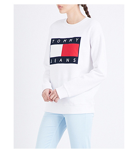 TOMMY JEANS Brand logo jersey sweatshirt (Classic+white