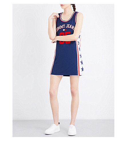 TOMMY JEANS 90s sports mesh dress (Medeival+blue
