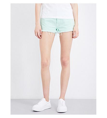 TOMMY JEANS 90s high-rise denim shorts (Dusty+aqua