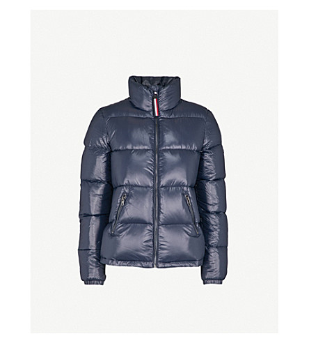 TOMMY JEANS Logo-embroidered shell-down puffer jacket (Navy