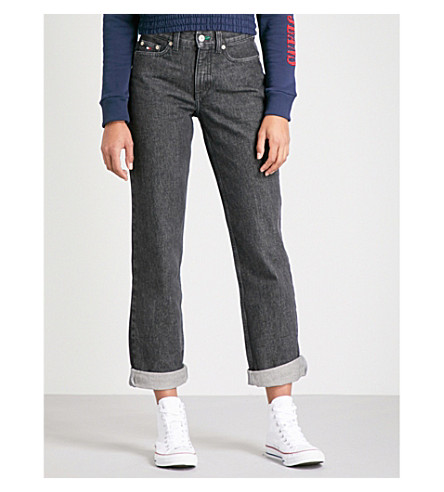 TOMMY JEANS '90s mom-fit tapered high-rise jeans (Black