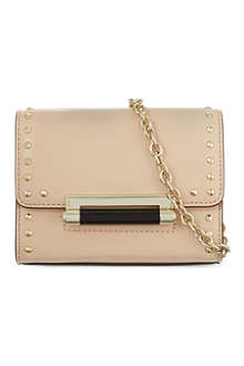 DIANE VON FURSTENBERG Mini leather studded shoulder bag
