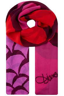 DIANE VON FURSTENBERG Printed chiffon scarf