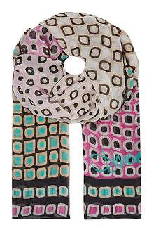 DIANE VON FURSTENBERG Silk chiffon scarf