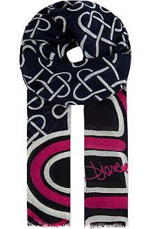 DIANE VON FURSTENBERG Kenley love knot scarf