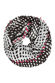 DIANE VON FURSTENBERG Circle optic plaid scarf