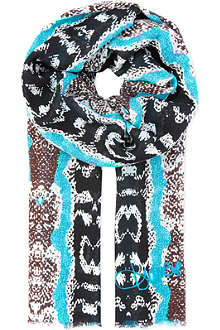 DIANE VON FURSTENBERG Security linen mix scarf