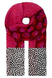 DIANE VON FURSTENBERG Patterned silk scarf