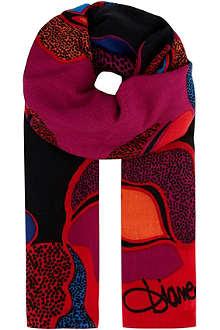 DIANE VON FURSTENBERG Rose scarf