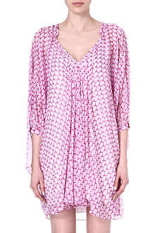 DIANE VON FURSTENBERG Fleurette printed silk tunic dress