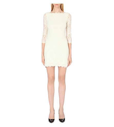 DIANE VON FURSTENBERG Zarita floral-lace dress (Ivory