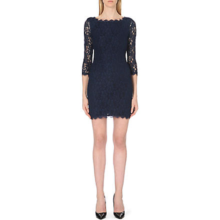DIANE VON FURSTENBERG Zarita lace dress (Blue