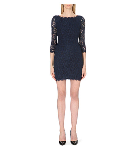 DIANE VON FURSTENBERG Zarita floral-lace dress (Blue