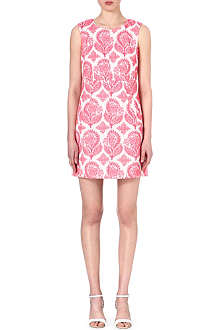 DIANE VON FURSTENBERG Carpreena floral-stamp A-Line dress