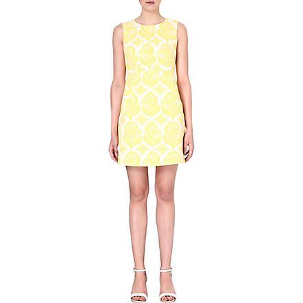 DIANE VON FURSTENBERG Capreen brocade shift dress (Yellow