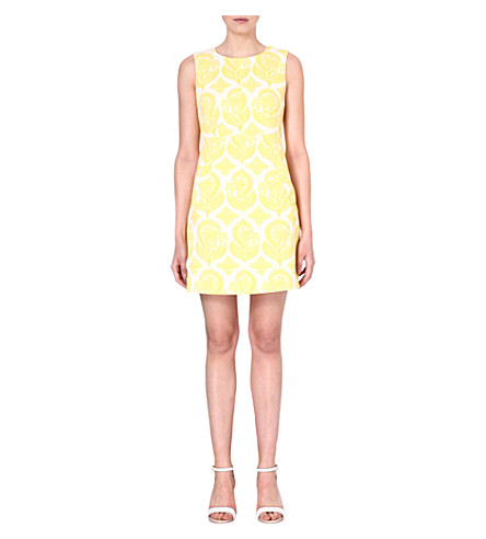 DIANE VON FURSTENBERG Capreen brocade shift dress (Yellow