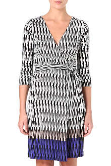 DIANE VON FURSTENBERG New Julian jacquard print dress