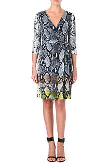 DIANE VON FURSTENBERG Wraparound snake Julian dress