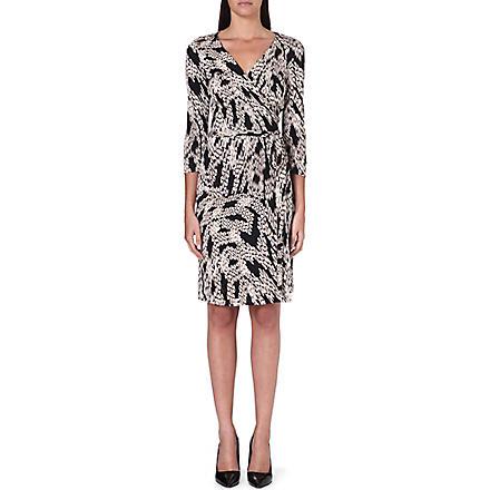 DIANE VON FURSTENBERG New Julian Two silk wrap dress (Panther