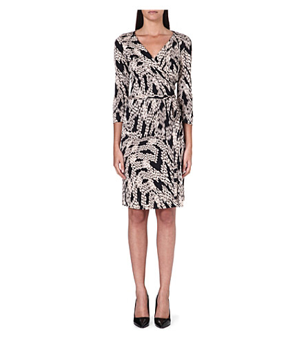 DIANE VON FURSTENBERG New Julian Two silk wrap dress (Panther