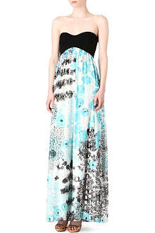 DIANE VON FURSTENBERG Asti metallic maxi dress