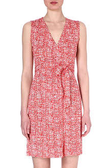 DIANE VON FURSTENBERG Sleeveless silk wrap dress
