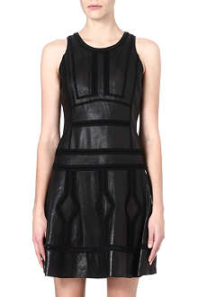 DIANE VON FURSTENBERG Reece panelled leather dress