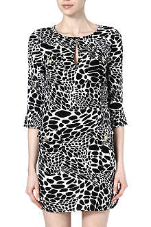 DIANE VON FURSTENBERG Agnes animal-print silk dress