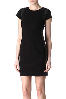 DIANE VON FURSTENBERG Pele leather-trim dress