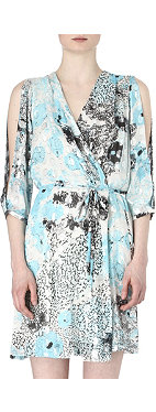 DIANE VON FURSTENBERG Autumn metallic dress