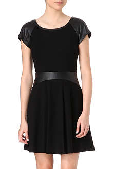 DIANE VON FURSTENBERG Delyse leather detail dress