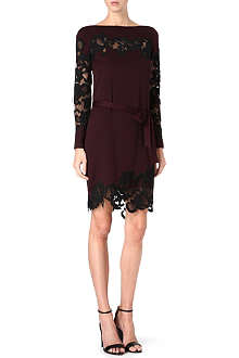 DIANE VON FURSTENBERG Ernestina lace-detail silk-blend dress