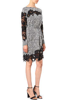 DIANE VON FURSTENBERG Ernesta print and lace dress