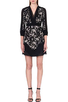 DIANE VON FURSTENBERG Fern lace-panel dress