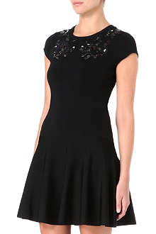 DIANE VON FURSTENBERG Renee knitted black printed dress